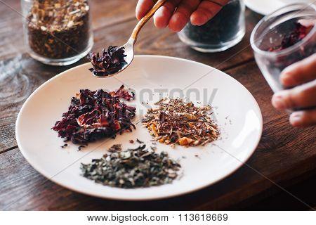 Different Types Of Tea (hibiscus, Green, Herbal)