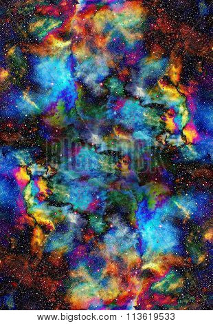 Nebula, Cosmic space and stars, blue cosmic abstract background. Elements of this image furnished by