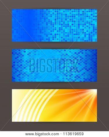 Set Of Horizontal Banner Header Website12