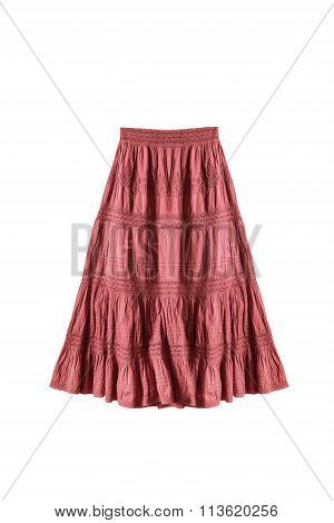 Red Skirt Isolated