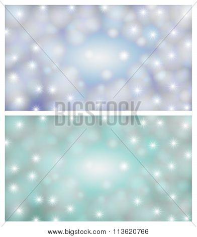 Space Background Illustration Of A Blue-light
