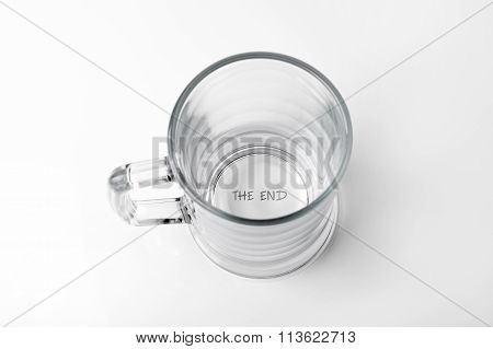 Alcohol Addiction Concept - Empty Glass With