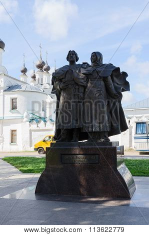 Monument Holy Pious Peter And Fevronia Of Murom, Murom, Russia