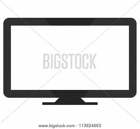 TV shows and colored on white background