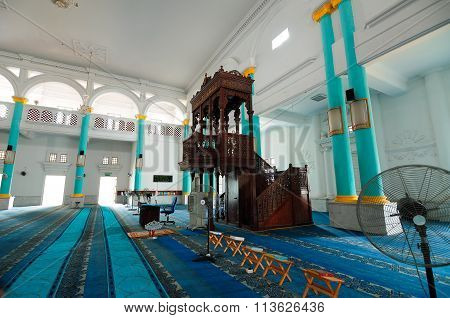 Mimbar of the Sultan Ismail Mosque in Muar, Johor, Malaysia