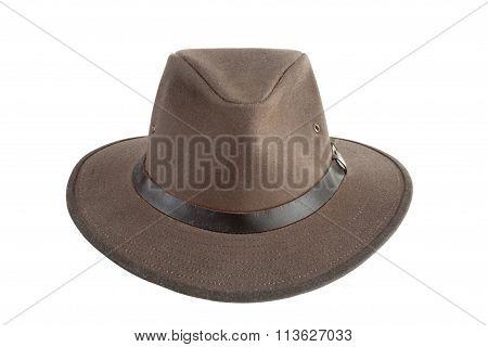 Brown Designer Hat
