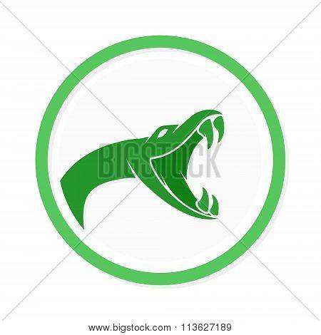 Vector snake logo template.  Viper head symbol or icon
