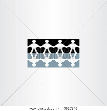 People Holding Hands Reflection Icon