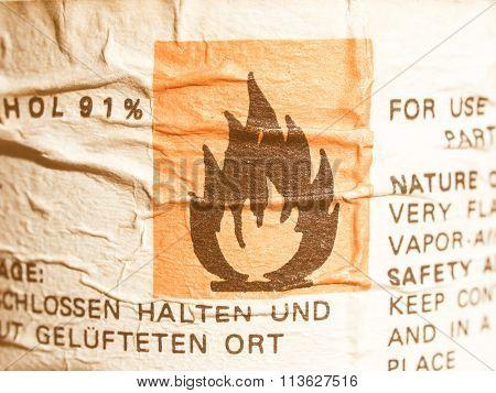 Danger Sign Vintage