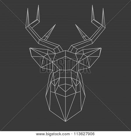 Polygonal Head Of Deer