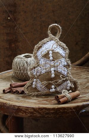 New Year's Toy Of Handwork And Cinnamon Stick