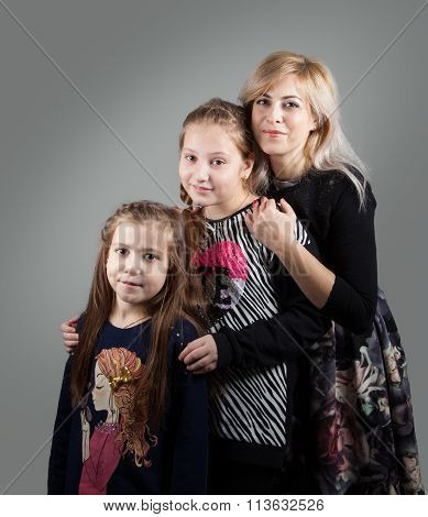Mother With Daughters