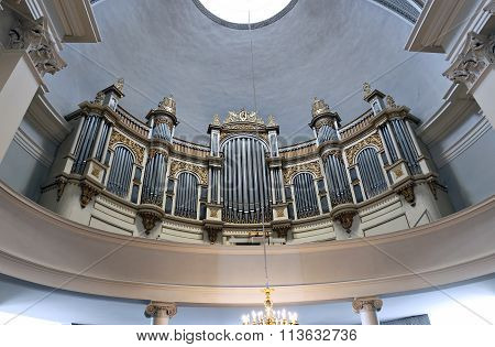 The Interior Of The Dome And The Organ In The Cathedral Of St. Nicholas (cathedral Basilica)