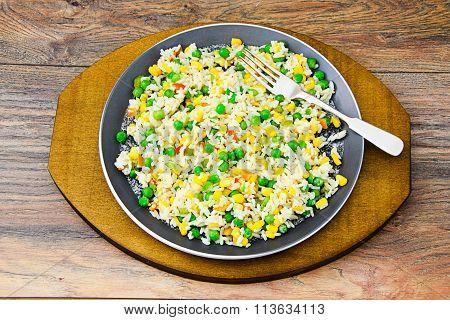 Risotto with Vegetables, Peas
