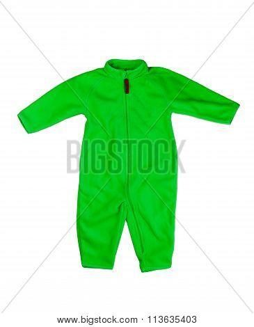 Green Rompers Fleece.