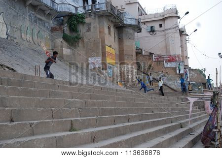 Cricket on Ghats of Varanasi