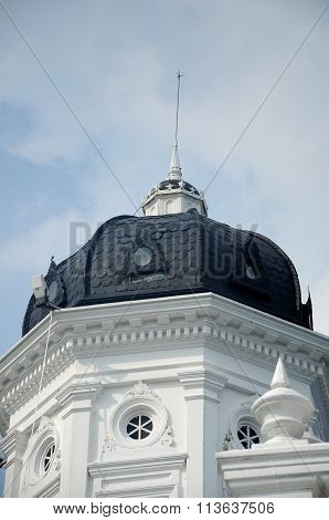 Dome of Sultan Abu Bakar State Mosque in Johor Bharu, Malaysia