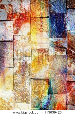 Abstract background and  rock wall and color effect, color background.