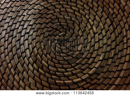 Closed Up Of Texture Of Basket Weave Pattern