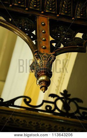 Architectural detail of Sultan Abu Bakar State Mosque in Johor Bharu, Malaysia