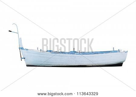 The image of an oared boat