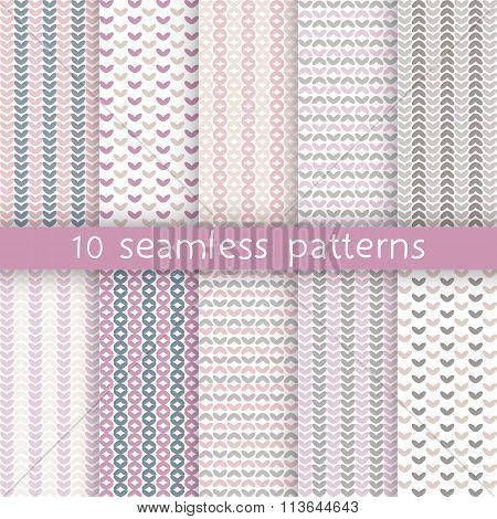 10 Vector Seamless Patterns