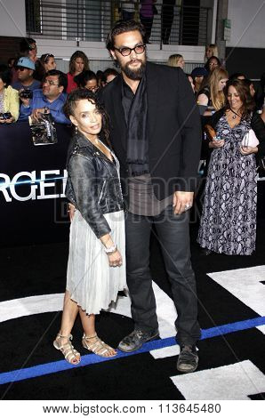 Lisa Bonet and Jason Momoa at the Los Angeles premiere of