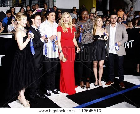 Kate Winslet and members of U.S. Olympic Team at the Los Angeles premiere of