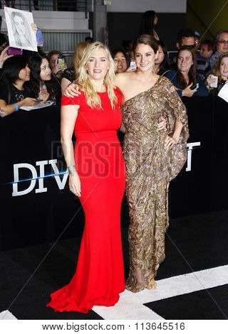 Kate Winslet and Shailene Woodley at the Los Angeles premiere of