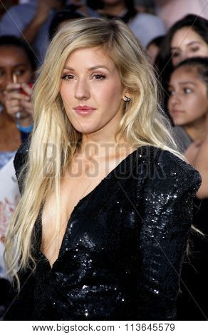 Ellie Goulding at the Los Angeles premiere of