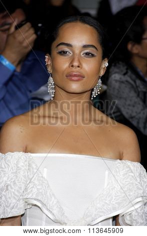 Zoe Kravitz at the Los Angeles premiere of