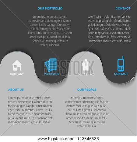 Vector abstract business background for company presentation with symbols