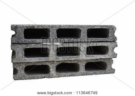 concrete block isolated on white