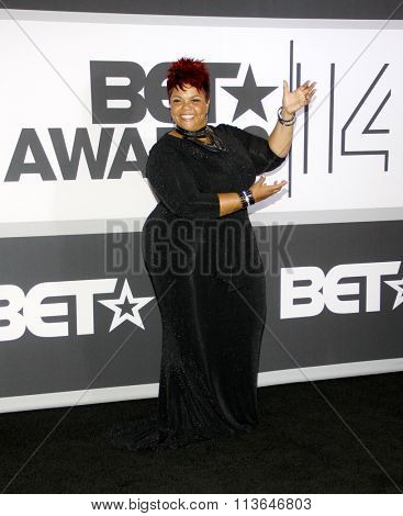 Tamela Mann at the 2014 BET Awards held at the Nokia Theatre L.A. Live in Los Angeles, USA on June 29, 2014.