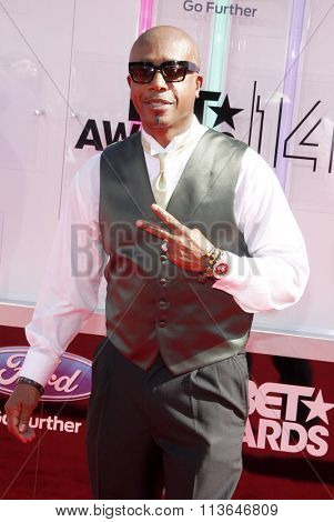 MC Hammer at the 2014 BET Awards held at the Nokia Theatre L.A. Live in Los Angeles, USA on June 29, 2014.