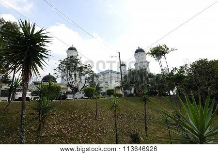 Sultan Abu Bakar State Mosque in Johor Bharu, Malaysia