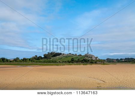 The beach of  in Liencres, Cantabria, Spain
