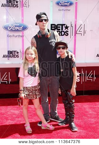 Travis Barker at the 2014 BET Awards held at the Nokia Theatre L.A. Live in Los Angeles, USA on June 29, 2014.