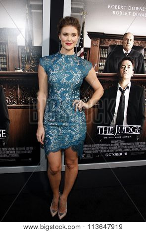 Sarah Lancaster at the Los Angeles premiere of