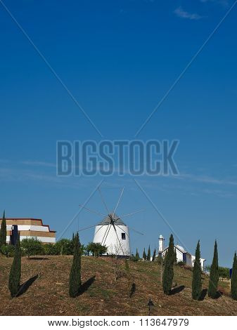 WIndmill and Pine Trees