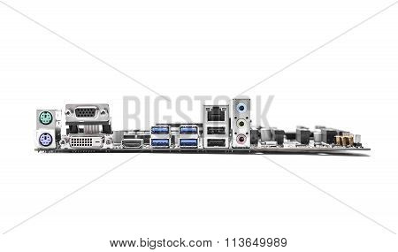 Motherboard isolated on white.