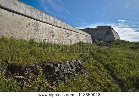Saint Sebastian Fort wall in Portugal