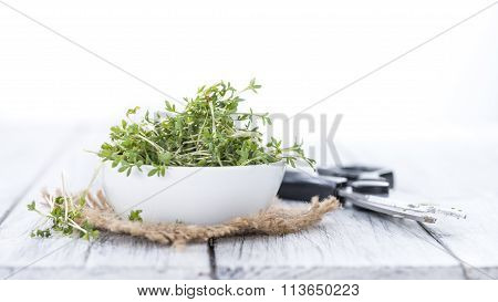Cress (isolated On White)