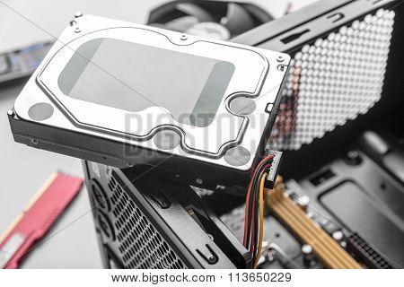 Hard disk drive HDD.