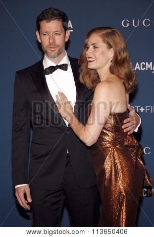 Amy Adams and Darren Le Gallo at the LACMA 2013 Art + Film Gala Honoring Martin Scorsese And David Hockney Presented By Gucci held at the LACMA in Los Angeles, USA on November 2, 2013.