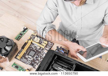 Computer repair professional.