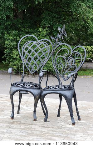Chairs Lovers In Park