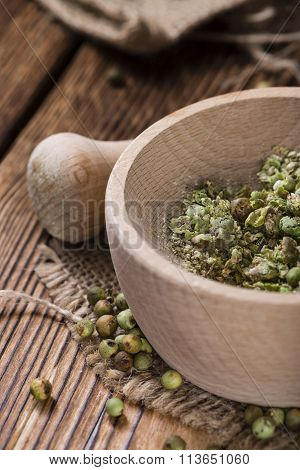 Heap Of Green Peppercorns