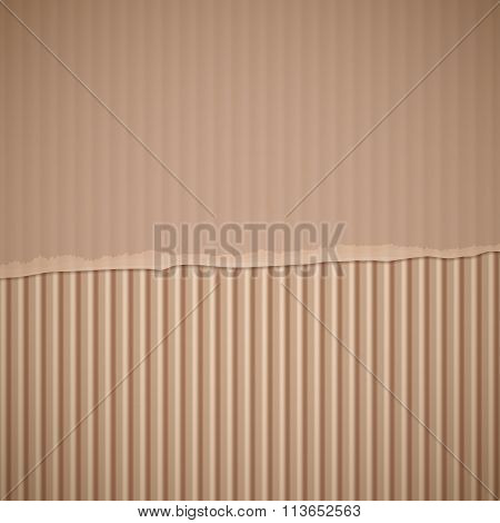 Torn Cardboard. Stock Illustration.
