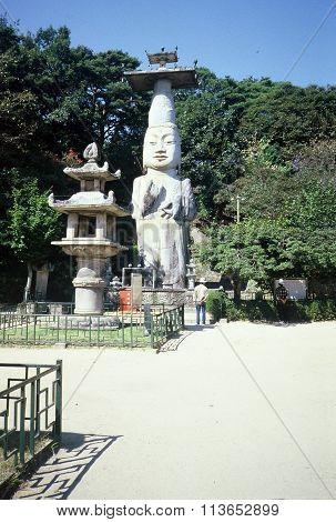 Eunjin-Mireuk Statue and Seokdeung Stone Lantern